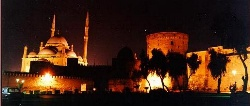 Islamic Egypt - The Citadel at night